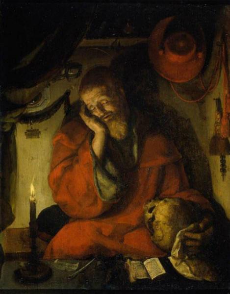 Aertgen Van Leyden - St. Jerome in his Study by Candlelight (1520) JeromeinhisStudybyCandlelightpsychologynowgr es5