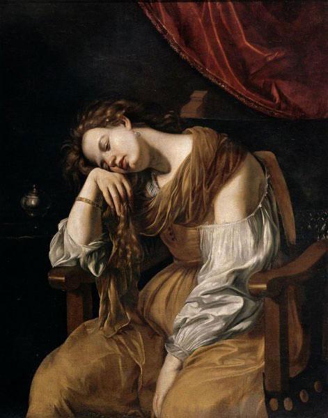 Artemisia Gentileschi - Mary Magdalene as Melancholy (1625-26) MaryMagdaleneasMelancholypsychologynowgr es7