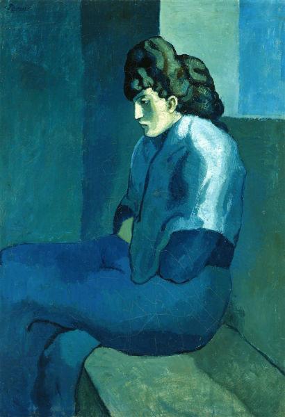 Pablo Picasso - Melancholy Woman (1902) MelancholyWomanpsychologynowgr es6