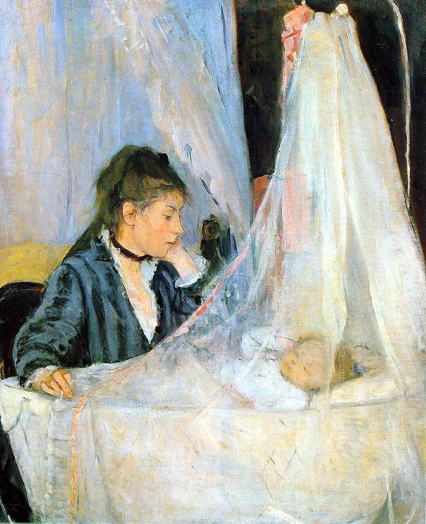 Berthe Morisot Le berceau The Cradle 1872