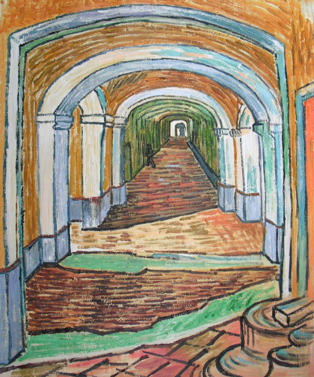 Corridor in the Asylum 1889