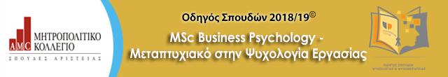 Μητροπολιτικό mcs business psychology