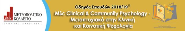 Μητροπολιτικό Msc clinical and community