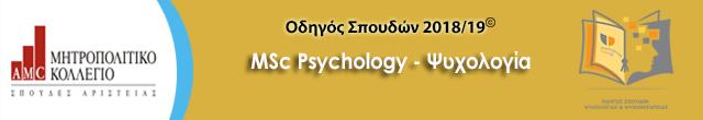 μητροπολιτικό msc psychology